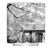 Cooper Street Railroad Trestle Shower Curtain
