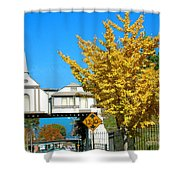 Cooper Young Trestle Looking North Shower Curtain