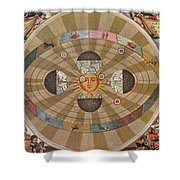 Copernican World System, 17th Century Shower Curtain