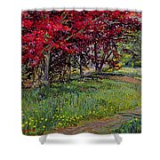 Copper Beeches New Timber Sussex Shower Curtain
