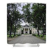 Copper King Daly's Riverside Mansion - Hamilton Montana Shower Curtain