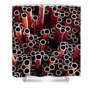 Copper Pipes. Shower Curtain