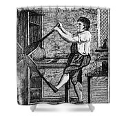 Copper Plate Printer, 1807 Shower Curtain
