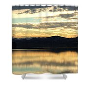Copper Sky And Reflections Shower Curtain