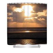 Copper Sunset Stroll Shower Curtain