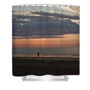 Coral Haze Sunrise Shower Curtain