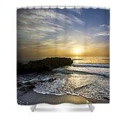 Coral Shoreline Shower Curtain