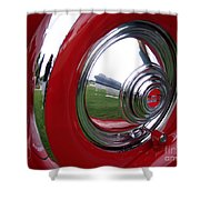 Cord Hubcap Shower Curtain