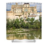Cordoba Cathedral And Guadalquivir River Shower Curtain
