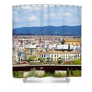 Cordoba Cityscape In Spain Shower Curtain
