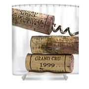 Cork Of French Wine Shower Curtain