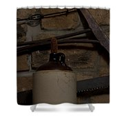 Corked White Lightning 9 Shower Curtain
