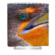 Cormorant Abstract Shower Curtain