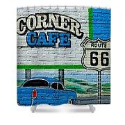 Corner Cafe Shower Curtain