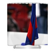 Corner Flag Of Camp Nou Shower Curtain