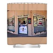 Corner Ice Cream Store Shower Curtain