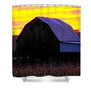 Cornfield Barn Sky Shower Curtain