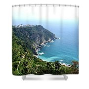 Corniglia Cinque Terre And Vineyards Shower Curtain