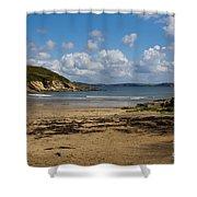 Cornish Seascape Maenporth Shower Curtain