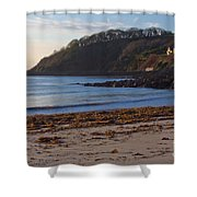 Cornish Seascape Meanporth Shower Curtain