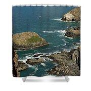 Cornish Seascape St Agnes  Shower Curtain