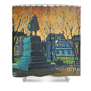 Cornwallace Statue Shower Curtain