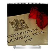 Coronation Book With Roses Shower Curtain