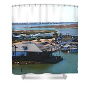 Corpus Christi Bay Towards Mustang Island Texas Shower Curtain