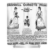 Corset Advertisement, 1892 Shower Curtain