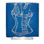 Corset Patent Series 1894 Shower Curtain