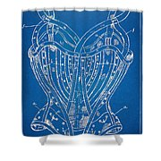 Corset Patent Series 1905 French Shower Curtain