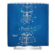 Corset Patent Series 1907 Shower Curtain