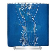Corset Patent Series 1924 Figure 1 Shower Curtain