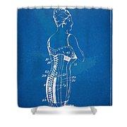 Corset Patent Series 1924 Shower Curtain