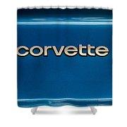 Corvette Badge Shower Curtain