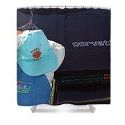 Corvette Crier Shower Curtain