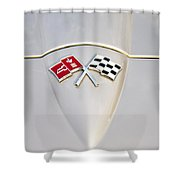 Corvette Emblem Shower Curtain