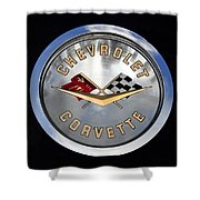 Corvette Name Plate Shower Curtain
