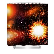 Cos  7 Shower Curtain