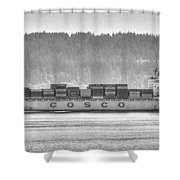 Cosco Cargo Ship Shower Curtain