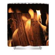 Cosmic Fire Shower Curtain
