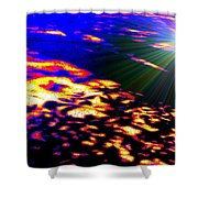 Cosmic Flare Shower Curtain