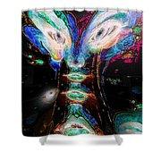 Cosmic Smurf Shower Curtain