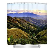 Costa Rica Rolling Hills 1 Shower Curtain