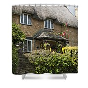 Cotswold Thatched Cottage Shower Curtain