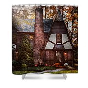 Cottage - Westfield Nj - A Place To Retire Shower Curtain by Mike Savad