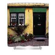 Cottage At Bushmills, Co Antrim, Ireland Shower Curtain
