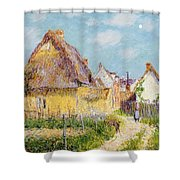 Cottage At Le Vaudreuil Shower Curtain by Gustave Loiseau