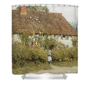 Cottage At West Horsley Surrey Shower Curtain