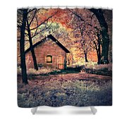 Cottage In The Woods Shower Curtain